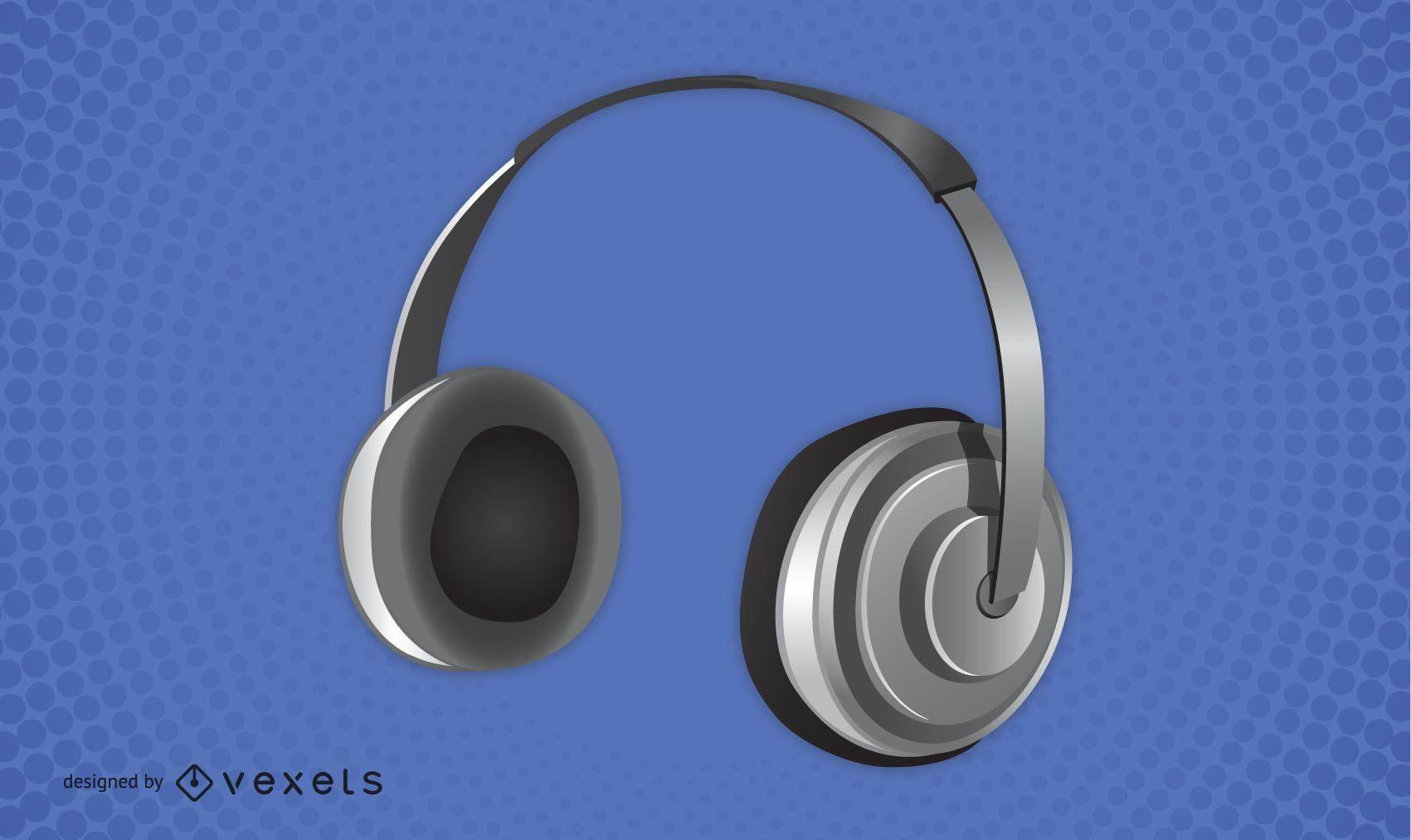 Fones de ouvido de vetor grátis