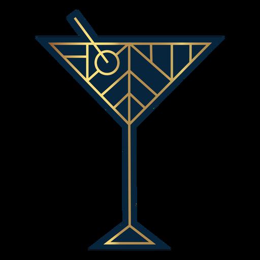 Geometric dirty martini glass