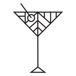 Geometric dirty martini glass stroke