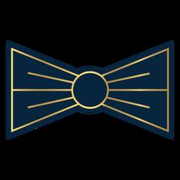 Pajarita línea geométrica