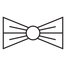 Geometric line bow tie stroke