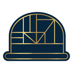 Geometric line dome hat