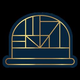 Sombrero domo linea geometrica