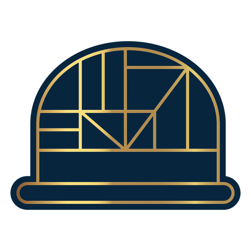 Geometric line dome hat Transparent PNG
