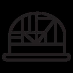 Geometric line dome hat stroke