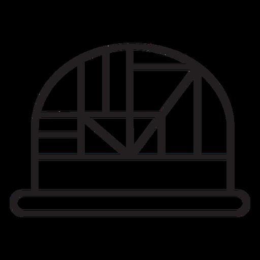 Geometric line dome hat stroke Transparent PNG