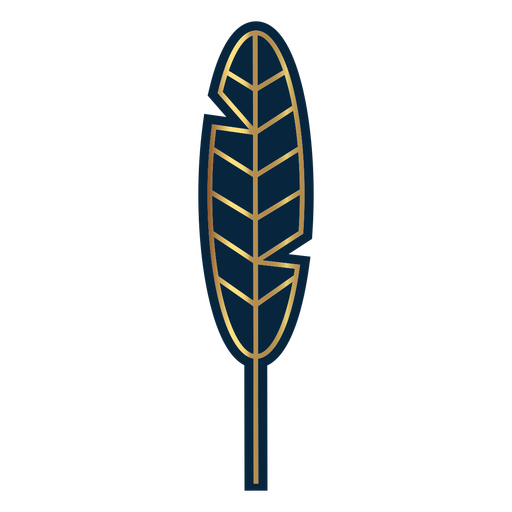 Geometric line feather