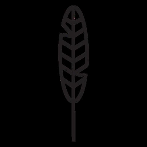 Geometric line feather stroke