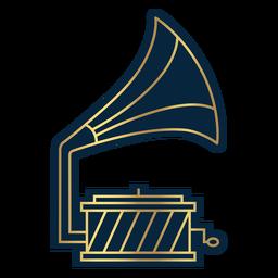 Geometric line gramophone record player