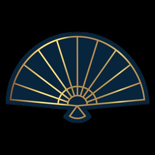 Geometric line hand fan