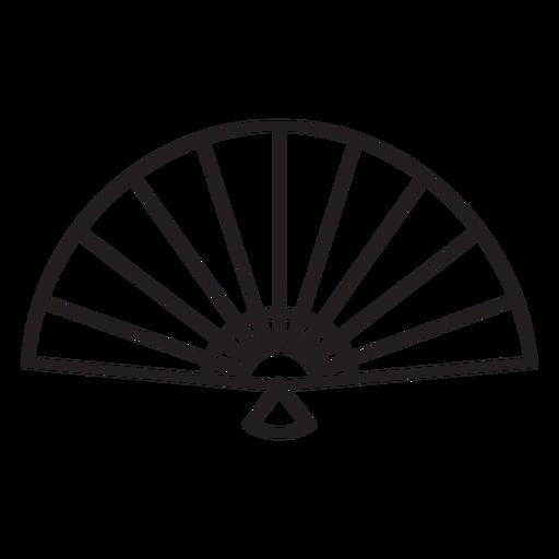 Geometric line hand fan stroke