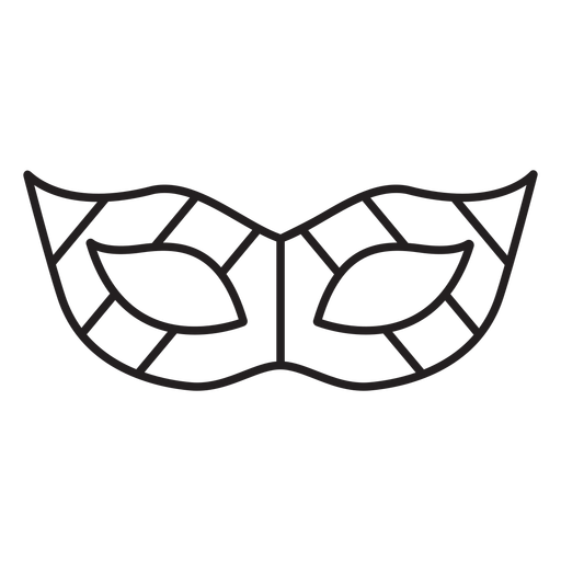 Geometric line masquerade eye mask stroke