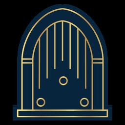Vintage Jukebox Gold der geometrischen Linie