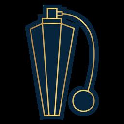 Botella de bomba de perfume vintage de línea geométrica