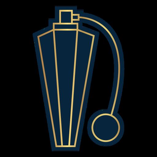 Geometric line vintage perfume pump bottle