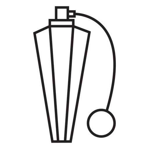 Geometric line vintage perfume pump bottle stroke