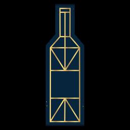 Geometric line wine bottle gold