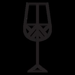 Trazo de copa de vino de línea geométrica