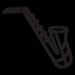 Traço geométrico de instrumento de saxofone