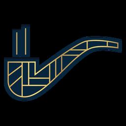 Geometric smoke pipe gold