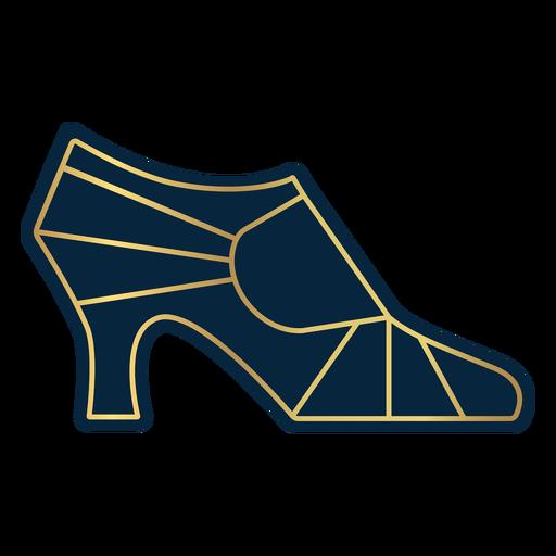 Perfil de tacón alto de mujer geométrico dorado