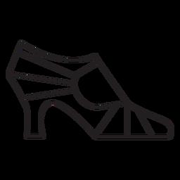 Geometric women high heel profile stroke