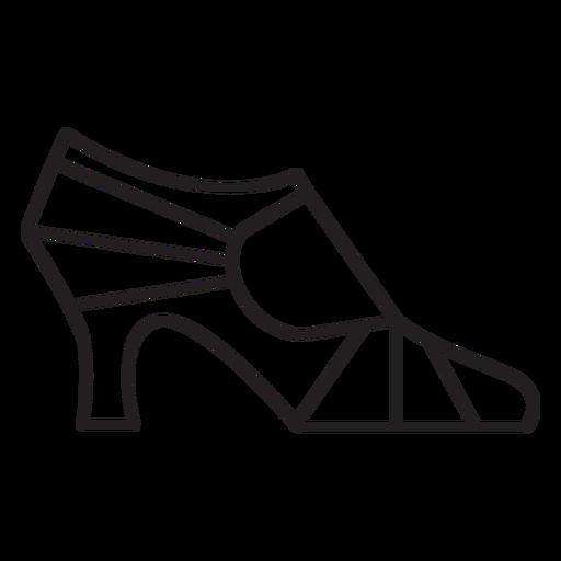 Trazo de perfil de tacón alto de mujer geométrica