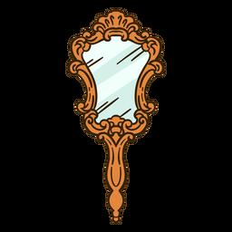 Espejo de mano adornado ilustración