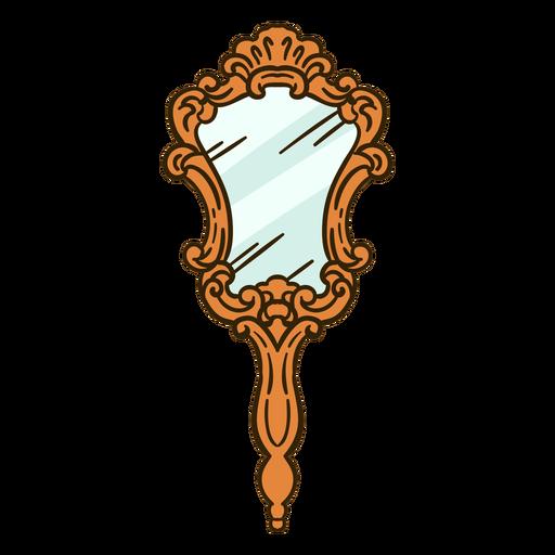 Handheld mirror ornate illustration