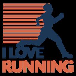 Eu amo correr distintivo