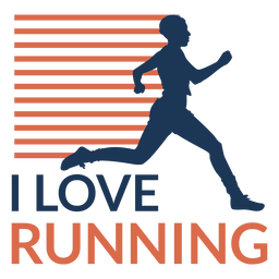 I love running badge