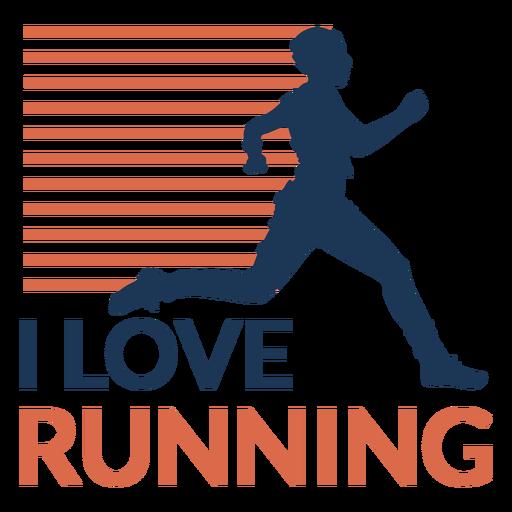 I love running badge Transparent PNG