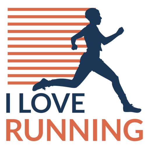 I love running badge