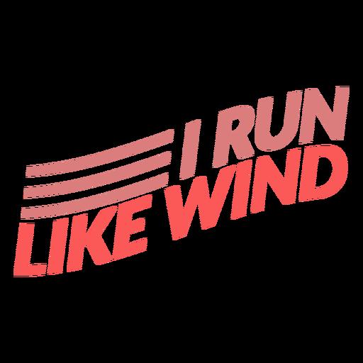 Corro como letras de viento