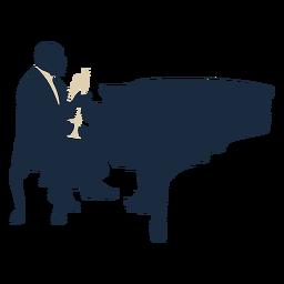 Duotono de trompeta pianista jazz player