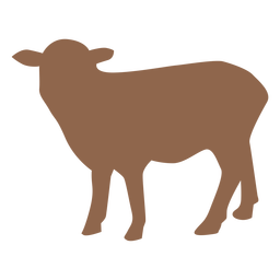 Silueta de animal de cordero