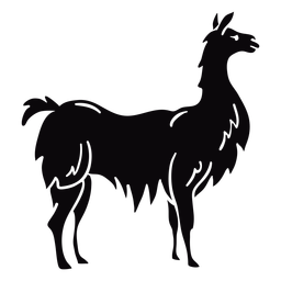 Llama animal profile black