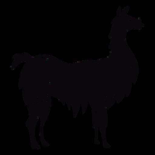 Llama animal profile black Transparent PNG