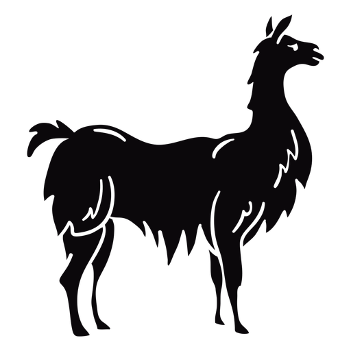 Llama perfil animal negro