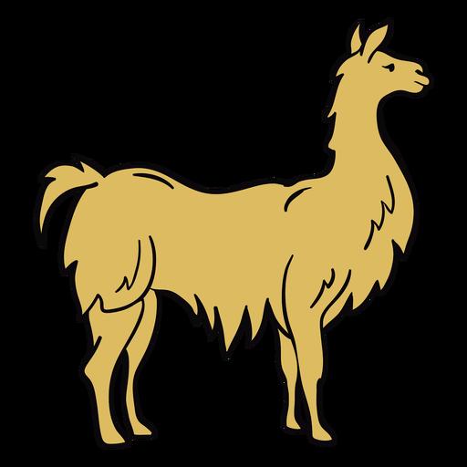 Ilustración de perfil de animal de llama Transparent PNG
