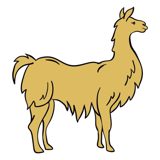 Ilustración de perfil de animal de llama
