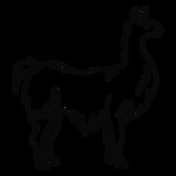 Trazo de perfil de animal de llama