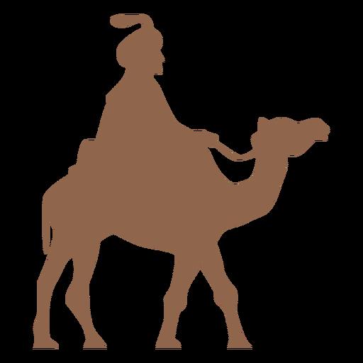 Man riding camel silhouette