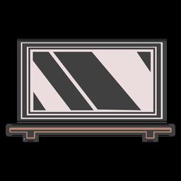 Ilustración de estante de espejo