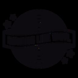 Nichts wie Vinyl schwarz Abzeichen