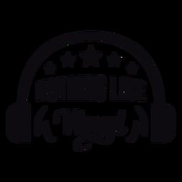 Nothing like vinyl headphones badge