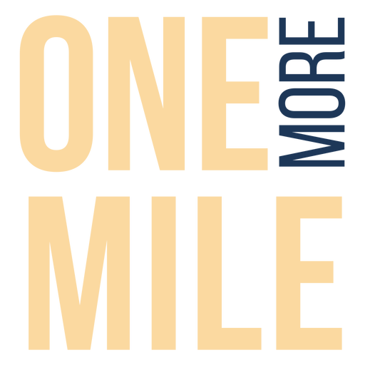 One more mile badge
