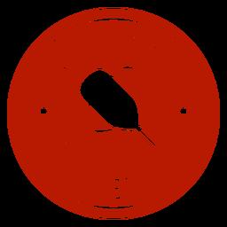 Jogue apenas crachá circular de pickleball