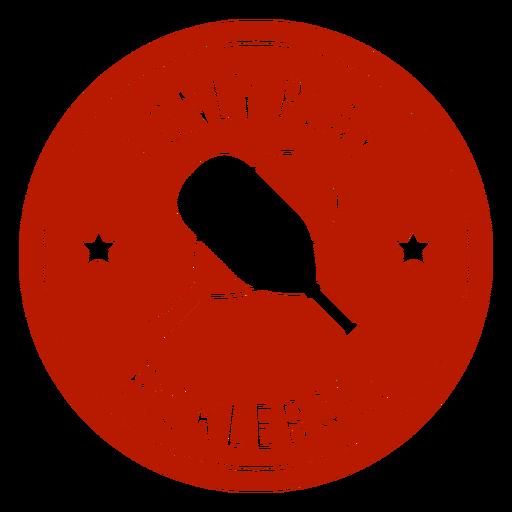 Only play pickleball circular badge