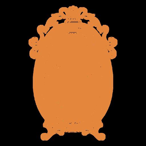 Espejo de pared redondo adornado